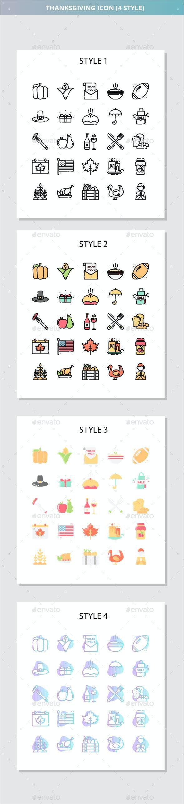 Thanksgiving Iconset - Seasonal Icons