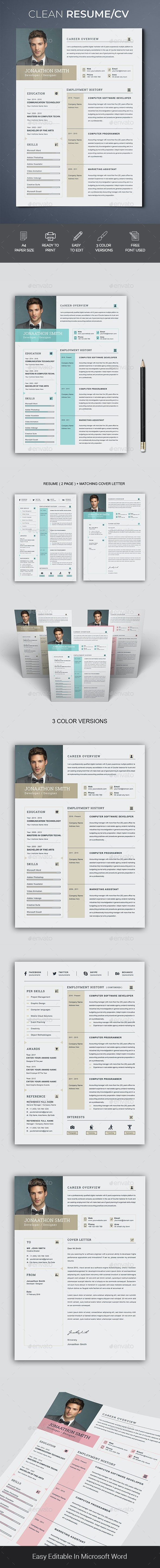 Professional Resume/CV - Resumes Stationery