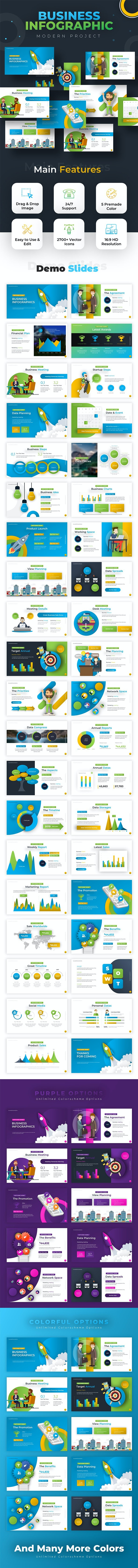 Business Infographic Powerpoint - PowerPoint Templates Presentation Templates