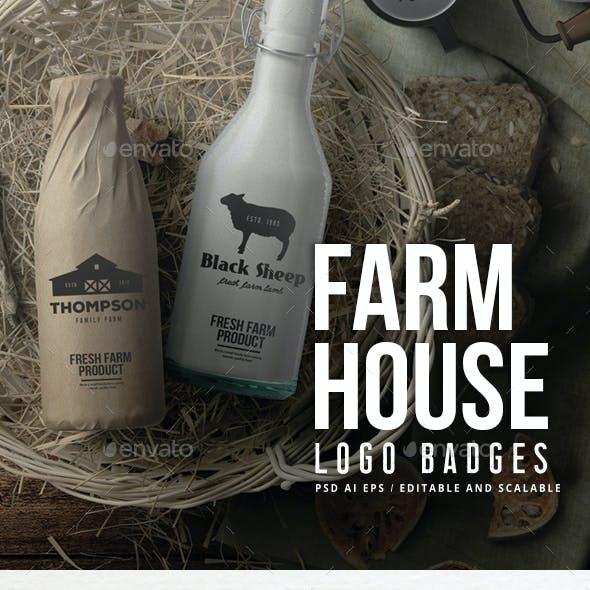 Farm House Logo Badges