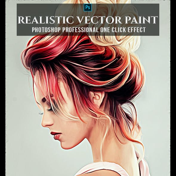 Realistic Vector Painting Photoshop Action