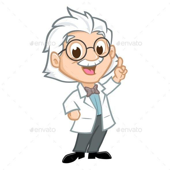 Cartoon Einstein Professor