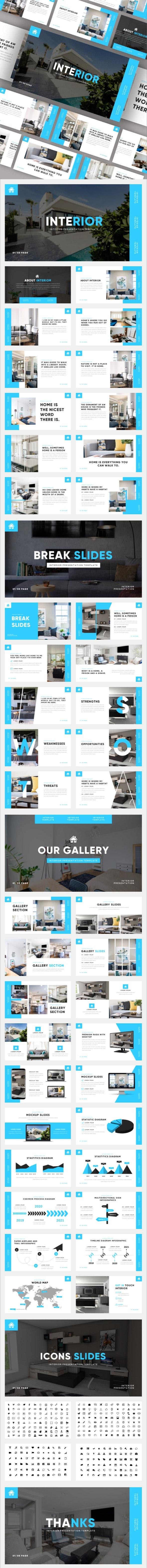 Interior - Furniture & Home Decoration Keynote Template - Business Keynote Templates