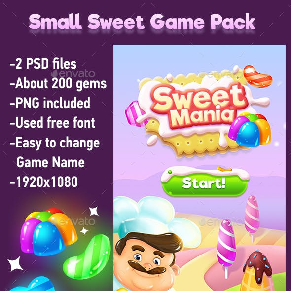 Small Sweets Game Pack with Game Gems