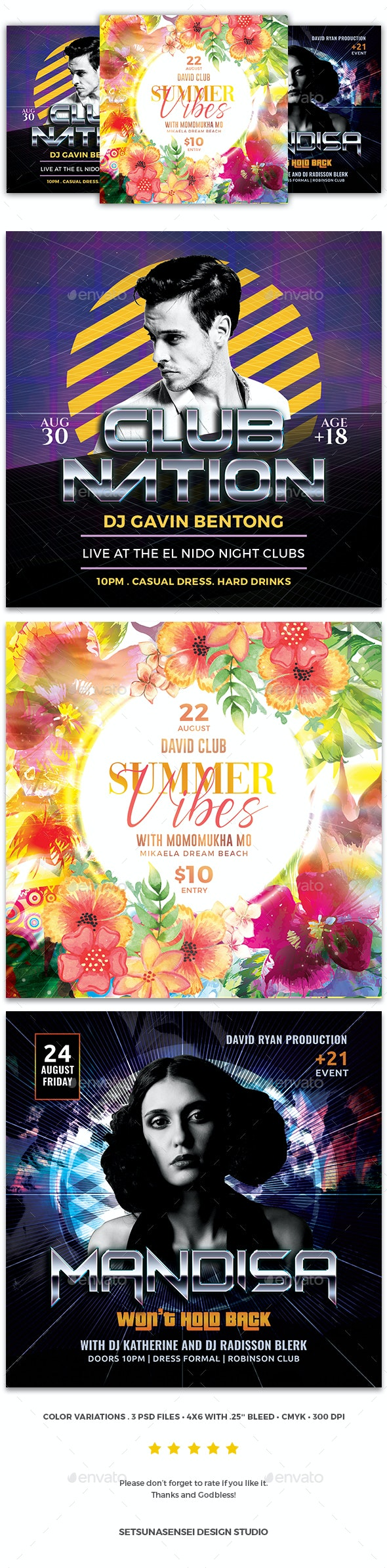 Party Flyer Bundle Vol.116 - Events Flyers