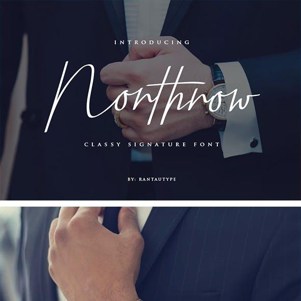 Northrow Signature Font