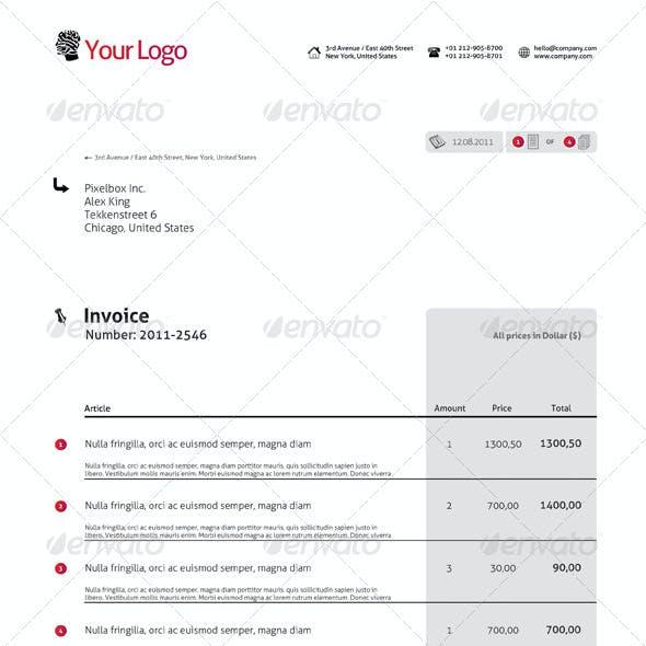 Modern Single Invoice