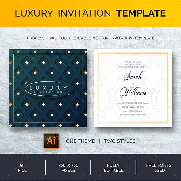 Professional Luxury Invitation Template