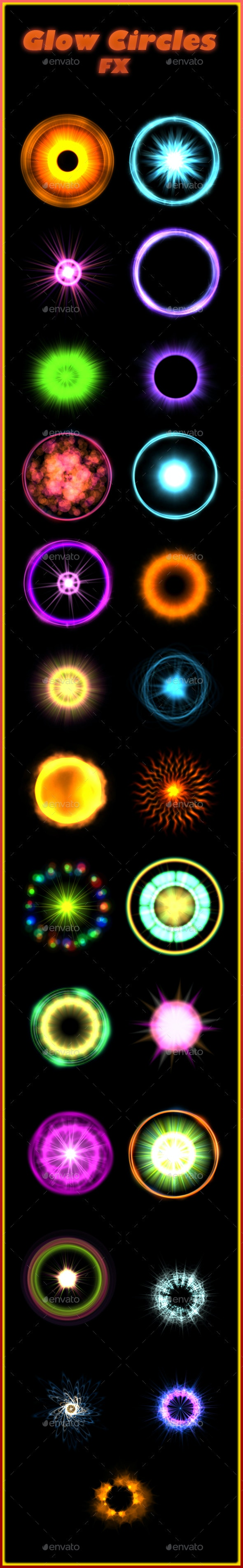 Glow Circle Fx - Sprites Game Assets