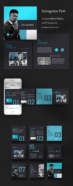 Business Instagram Templates - Social Media Web Elements