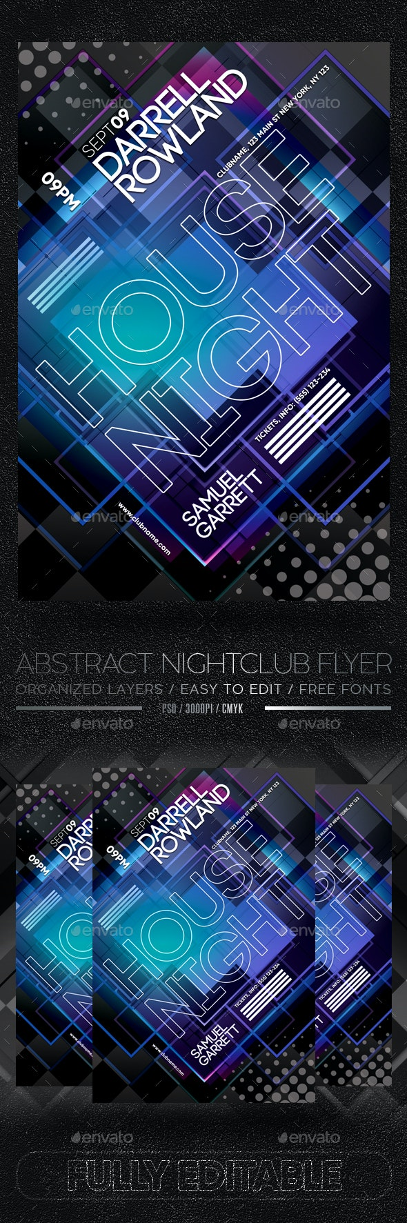 Abstract Nightclub Flyer - Clubs & Parties Events