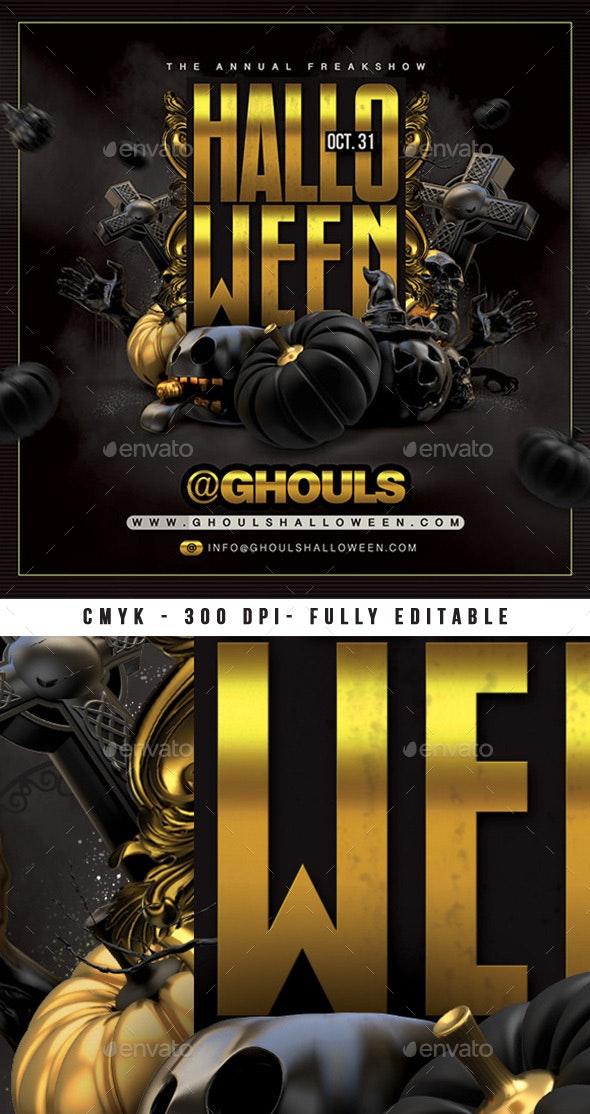 Dark Halloween Party Flyer - Events Flyers