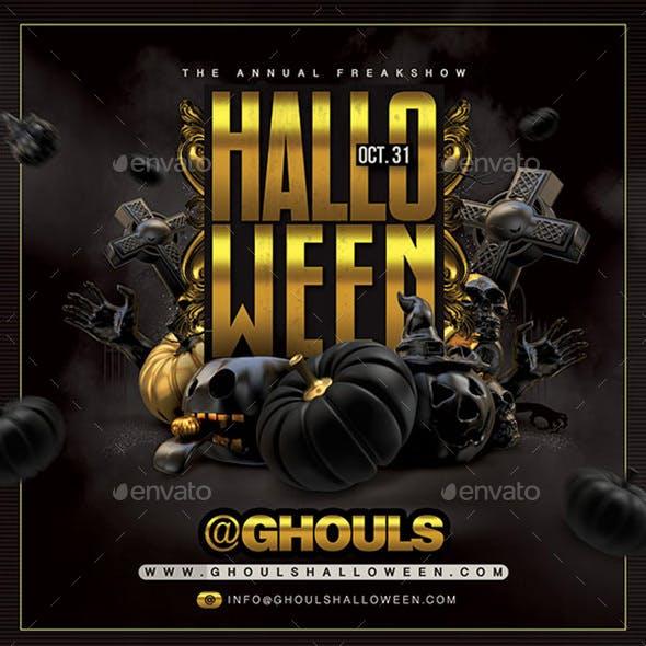 Dark Halloween Party Flyer