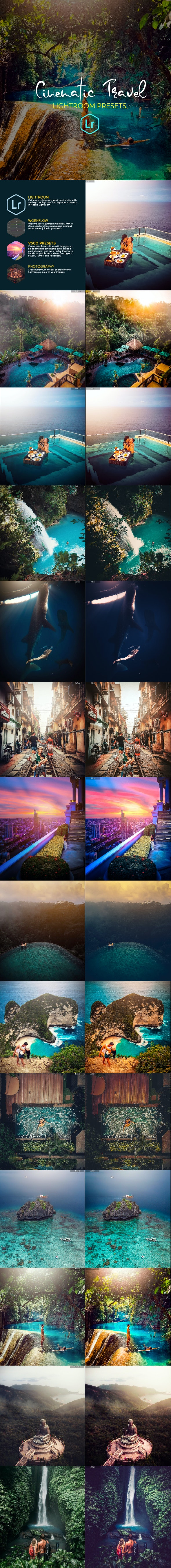 30 Cinematic Travel Lightroom Presets - Lightroom Presets Add-ons