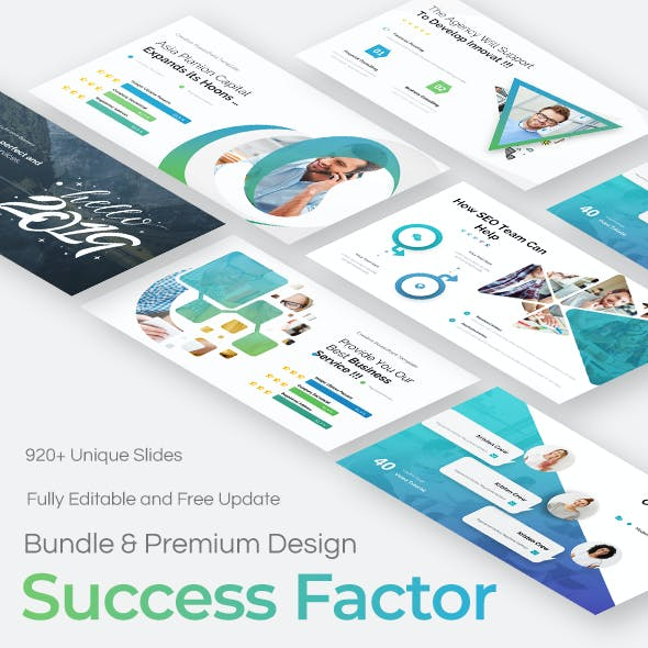 3 in 1 Success Factor Bundle Pitch Deck Powerpoint Template