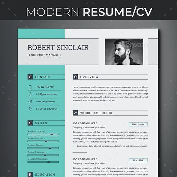 Clean Resume Word