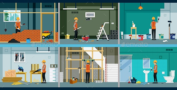 Construction worker - Buildings Objects