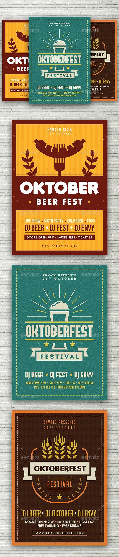 Oktoberfest Flyers Bundle - Holidays Events
