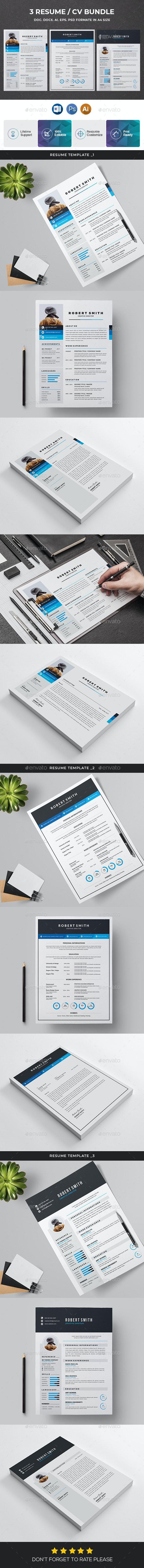 Resume Bundle 3 in 1 - Resumes Stationery