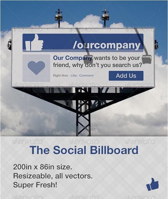 Social Billboard - 1 - Signage Print Templates