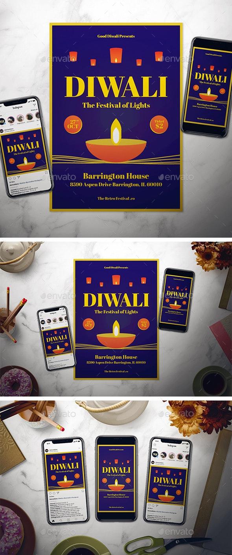 Diwali Flyer Set - Holidays Events