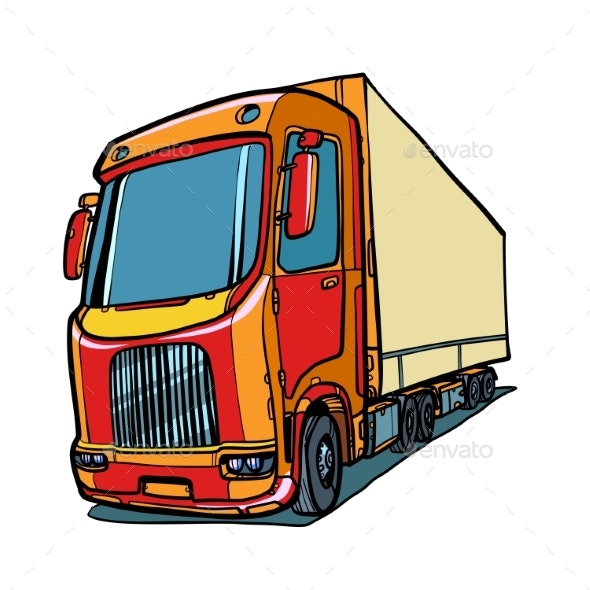 Truck. Freight Traffic - Man-made Objects Objects