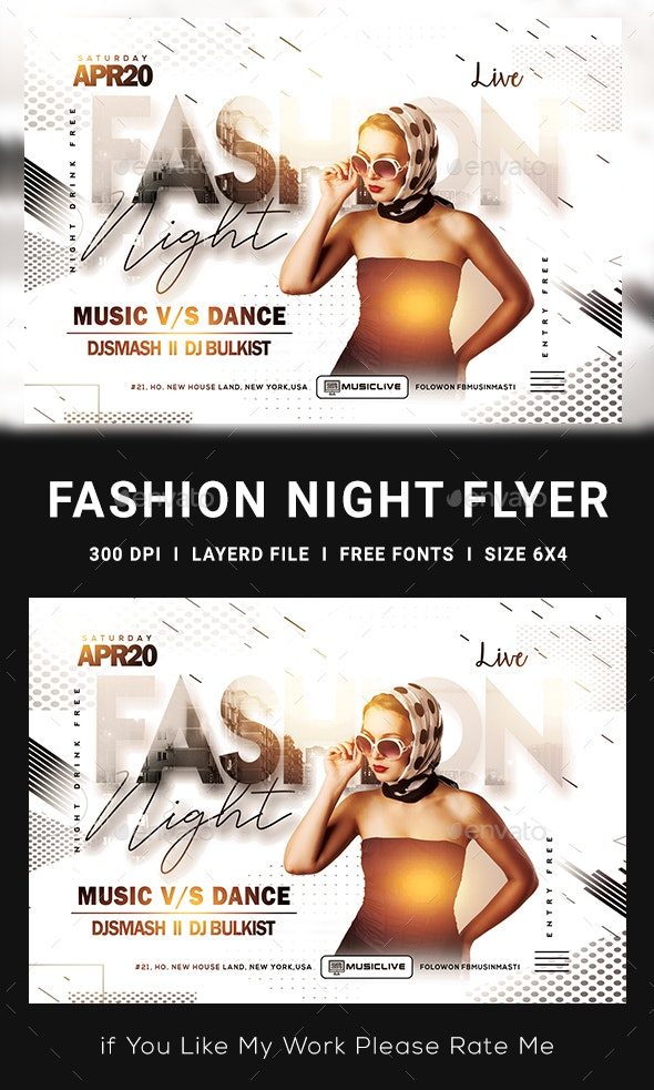 Fashion Flyer Template - Clubs & Parties Events