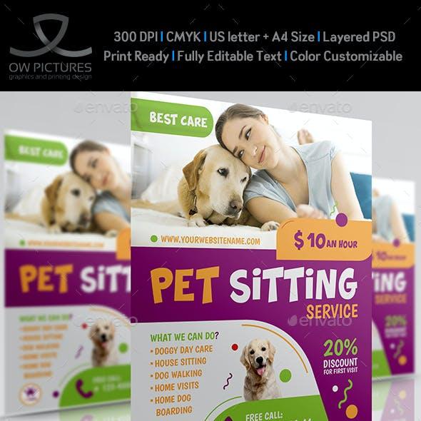Pet Sitting Service Flyer Template