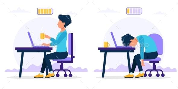 Burnout Concept Illustration - Concepts Business