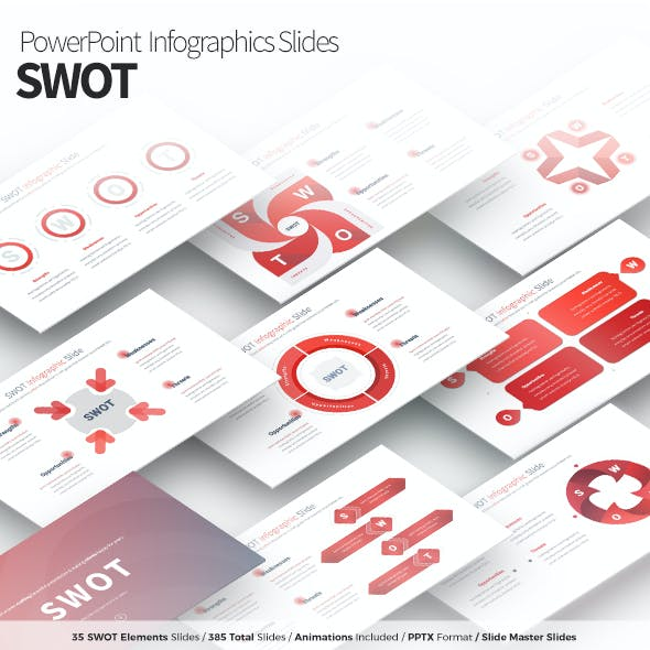 SWOT - PowerPoint Infographics Slides