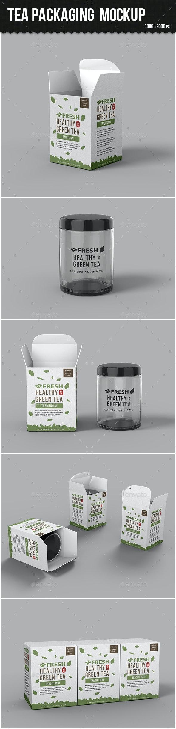 Tea Packaging Box Mockup - Food and Drink Packaging
