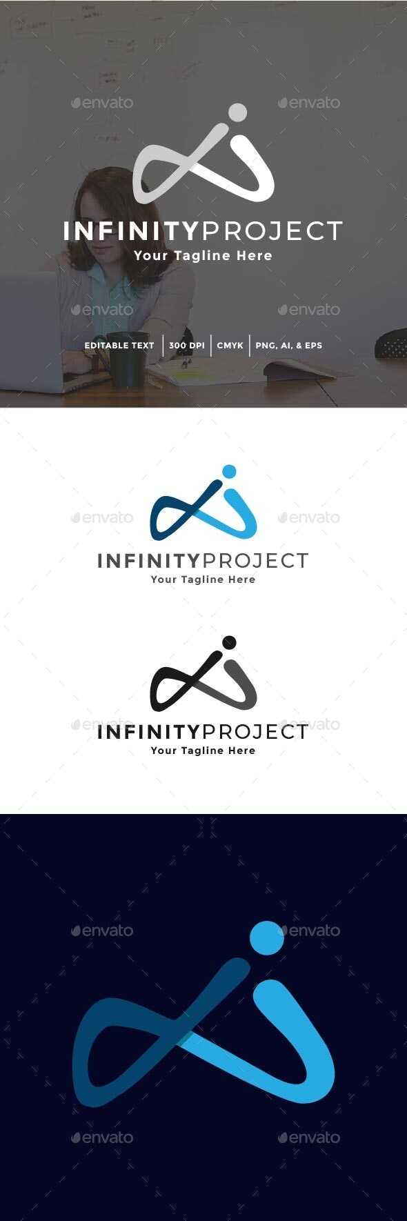 Infinity Project Logo - Abstract Logo Templates