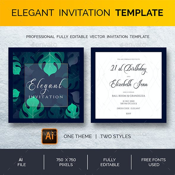 Invitation Templates from GraphicRiver
