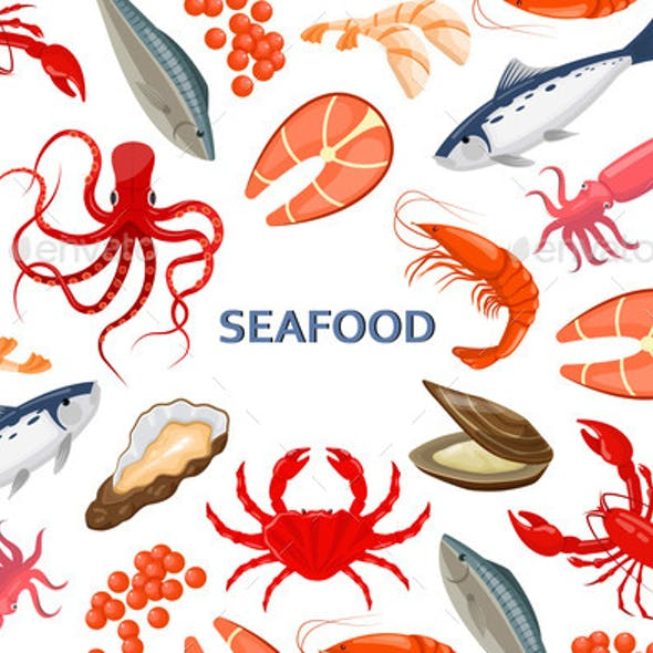 Flyer with Seafood