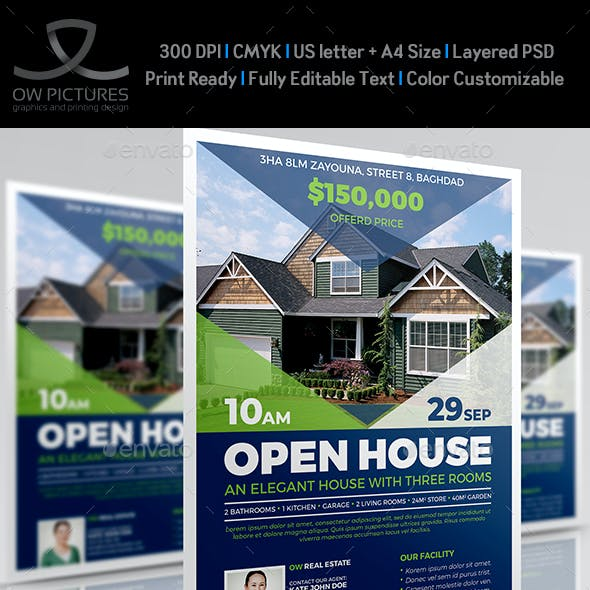 Open House - Real Estate Flyer Template