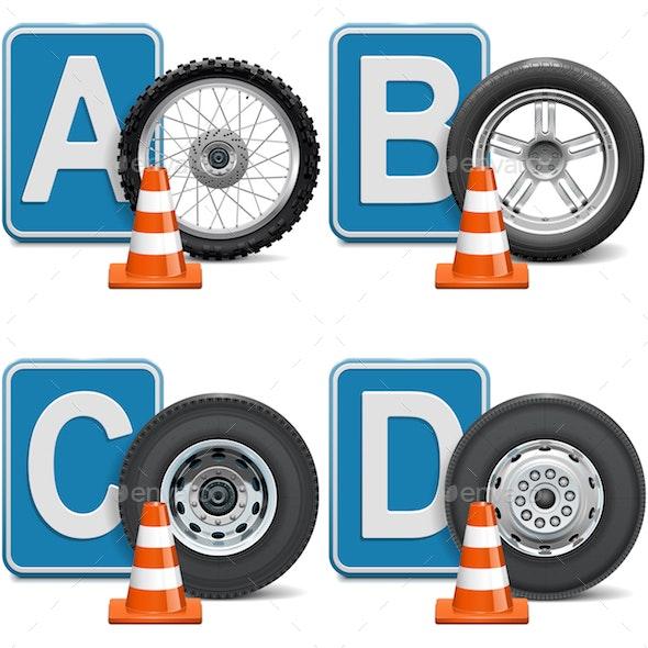 Vector Vehicle Categories - Miscellaneous Vectors