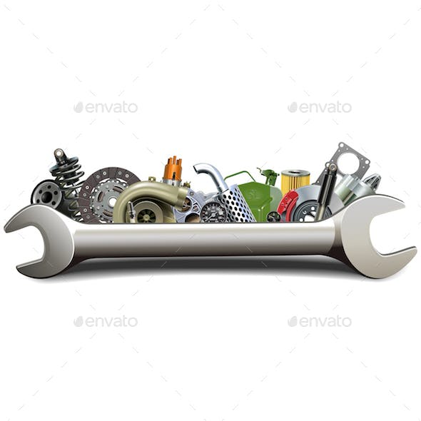 Vector Spanner with Car Parts