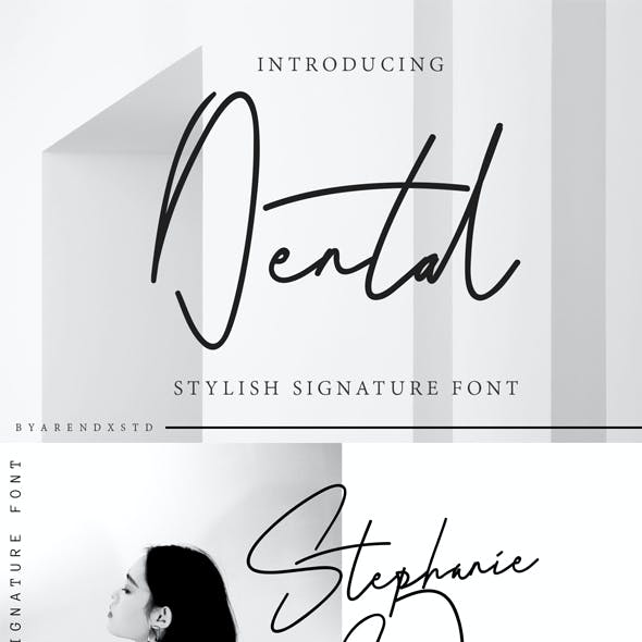 Dental Signature Font