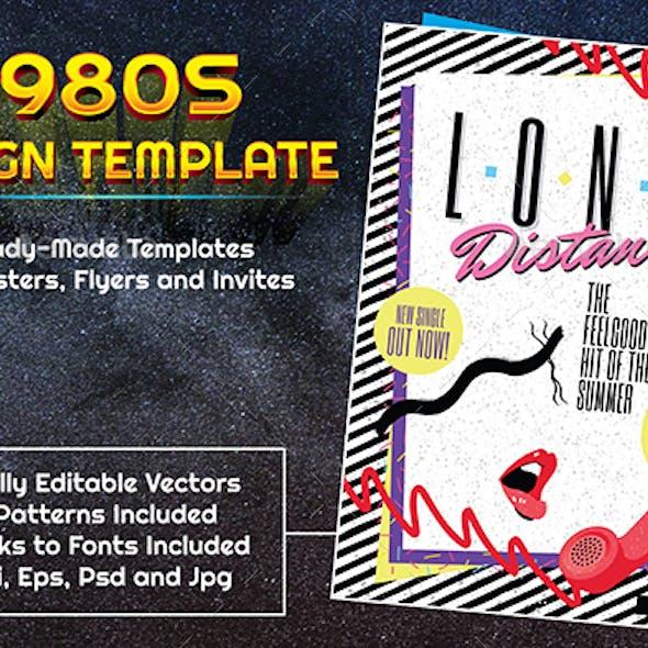 1980s Style Pop Music Design Template