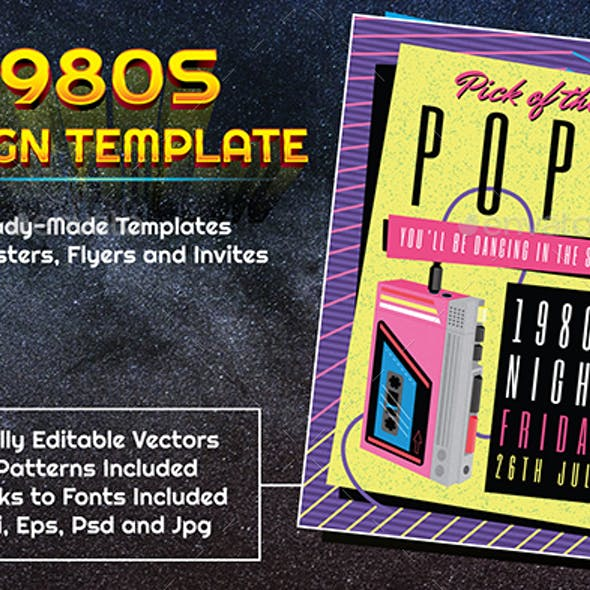 1980s Style Retro Music Design Template