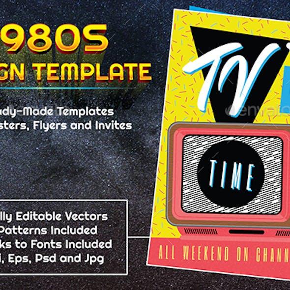 1980s Style TV Advert Design Template