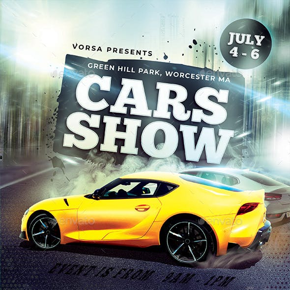 Cars Show Flyer