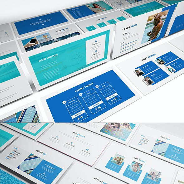 Swimming Powerpoint Presentation Template