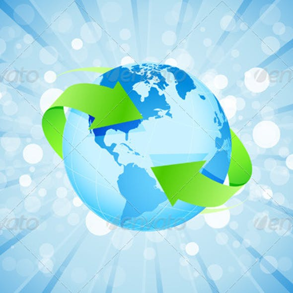 Blue Background with Planet Earth