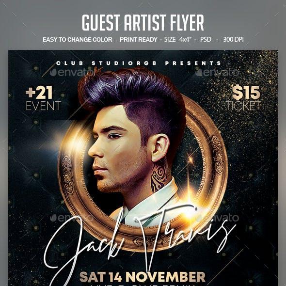 Guest Artist Flyer