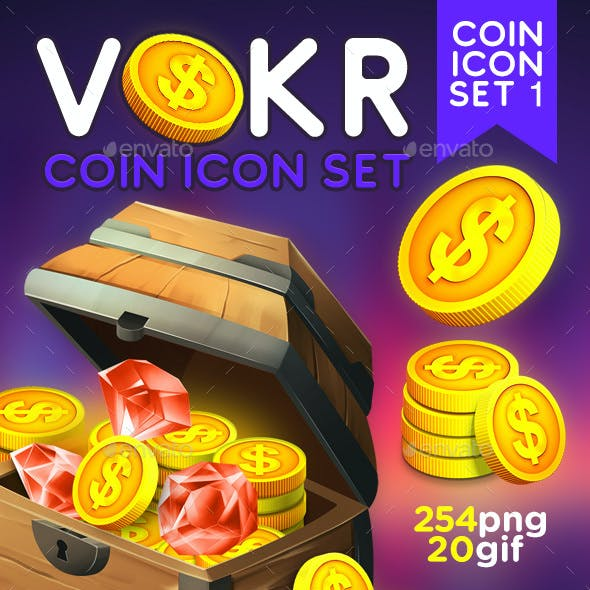 Vokr - Game IAP Coins Icon Set 1 by weirdeetz