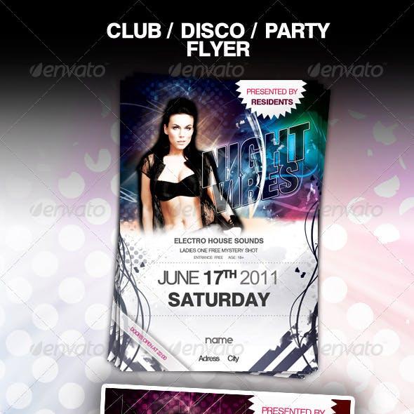 Club Disco Party Flyer