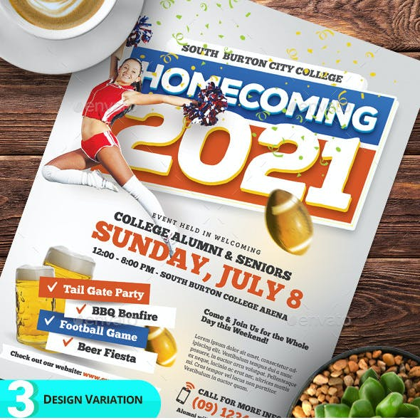 Homecoming Event Flyer Templates