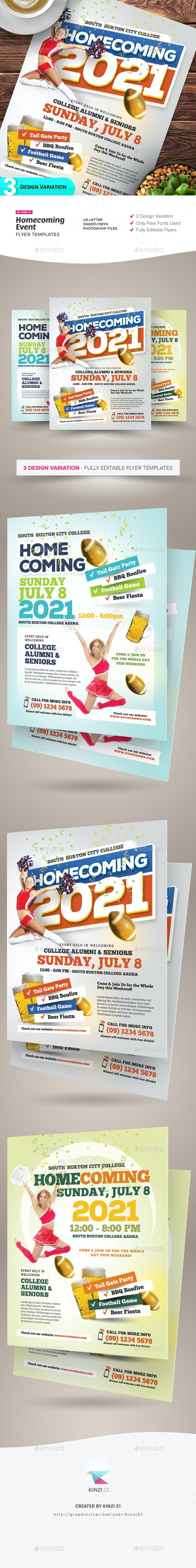 Homecoming Event Flyer Templates - Miscellaneous Events