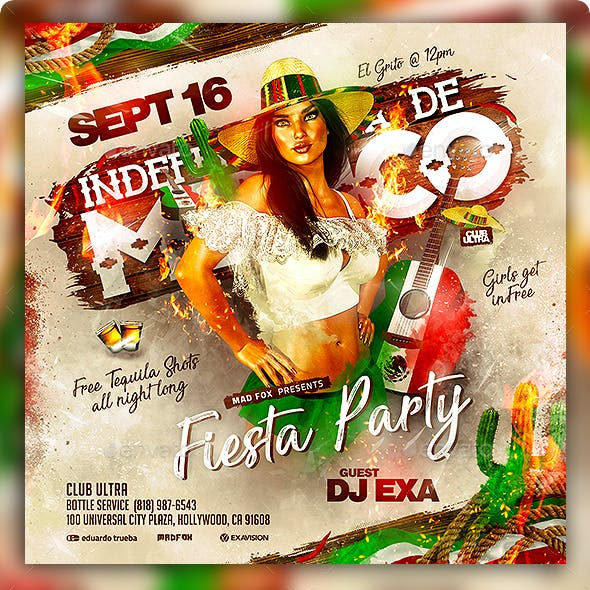 Independencia de Mexico Party Flyer